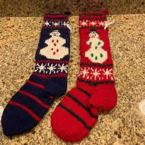 Santa's Best Wool Christmas Stockings Made Nepal
